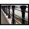 railings black cast iron jetty quay