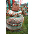 anaglyph 3D stereo rocks collection stones garden