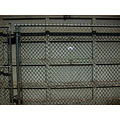 alley chainlink fence garagedoor