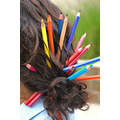 pencils colorful hair
