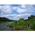 river Neman Belarus Grodno summer sky skies water nature