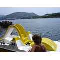 dubrovnik kroatia waterbike adriatic blue water sea rocks montello island