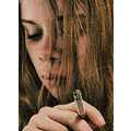 portrait people teenager girlsmokes