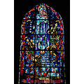 DDay stained glass Ste Mere Eglise Normandy France Normandie WWII paratroop