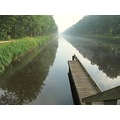 canal canalclub perspective fog foggy landscape