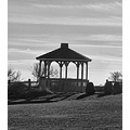 This gazebo sits close to the walk path. I made the picture black and white.