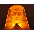 Ramses 2 Light 3 D plaster figure Sand