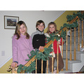 The two girls decorated the stair railings.....the way THEY want them.....