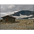 Norway highest point mountain high barren hut top glacier