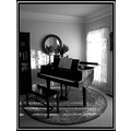 Music room in black and white
