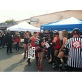 The Oyster Run 2012 in Anacortes Washington.  Roller Derby girls