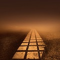 architecture detail surreal squares road fog colours dream city scape keitology