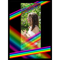 portrait girl rainbow
