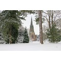 The church at Clumber Park in the snow