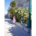 Croatia Losinj Adriatic area cactus palm wife