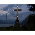cross light mountain italy iseo lake