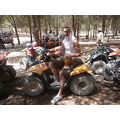 ON HOLS IN TUNISIA ON QUAD BIKE IN THE DESERT