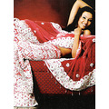 Red Velvet Lehenga Choli with Dupatta