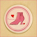 shoe boot pink ceramic