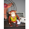 inakita tin plate toy monkey