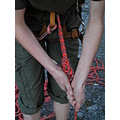 hands knot climbing rope