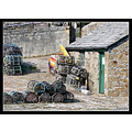 charlestown cornwall fishing shed fish river sea harbour nets pots