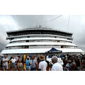 zuiderdam cruise ship people bow panama