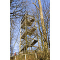 Came across this tower in the middle of a forest. It's a lookout so people could (and still can) ...