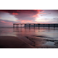 sunrise beach saltburn pier north yorkshire