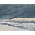 beach toddler sea mwnt wales