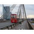 suspension bridge old riga latvia travel welcome stone river daugava oakslat