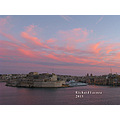A view of the Three Cities, ie Cospicua, Vittoriosa and Senglea as was seen from Valletta, Malta.