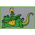 alligator beer glass smile green shamrock