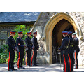 4. The groom is in the Royal Electrical and Mechanical Engineers so there was a guard of honour i...