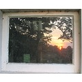 sunset reflection window