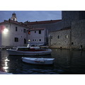 dubrovnik kroatia adriatic blue water sea evening night