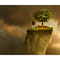 garden rock surreal photomontage collage mattijn cat tree arcen