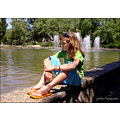 girl daughter kid child sadness park portrait fountain outdoor Pleven Bulgaria