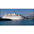 ship boat blue tug harbour harbor white sea water cruise travel vessel