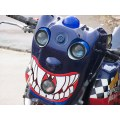 scary eyes teeth motorcycle custom