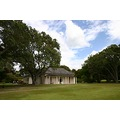 Waitangi house trees summer grass sky clouds
