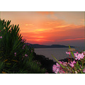 sunset seascape perspective mediterranean corsica st florent flash
