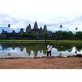 cambodia Angkor wat reflection water self