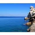 attiki kakithalassa greece rocks blue sea keratea