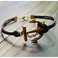anchor anchor leather bracelet gold anchor handmade jewelry See more at