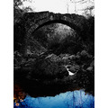 nature architecture landscape bridge bw black white reflection