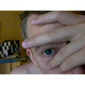 eye blue webcam me