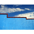 borderline blue mexico realdelmonte sky wall minimalist clouds