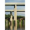 Schuykill River Route 1 Overpass Pillar Reflection
