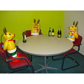 christmas callcentre reindeer union negotiations alcohol beer